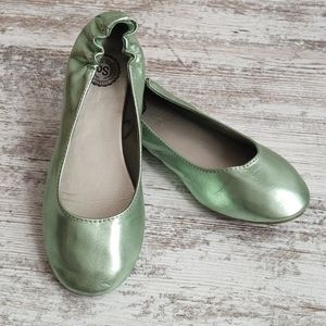 💚SO Metallic Mint Green Ballet Flats